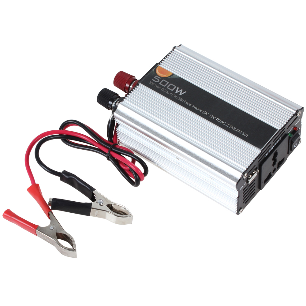 500w automatic thermal shutdown car power inverter adapter. Black Bedroom Furniture Sets. Home Design Ideas