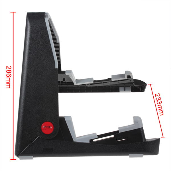 portable black folding guitar stand frame for bass folk acoustic electric guitar ebay. Black Bedroom Furniture Sets. Home Design Ideas