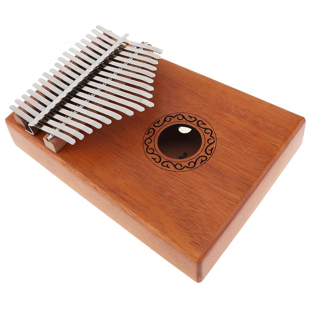17 Keys Kalimba Single Board Mahogany Thumb Piano Mbira Keyboard Instrument Tool 2