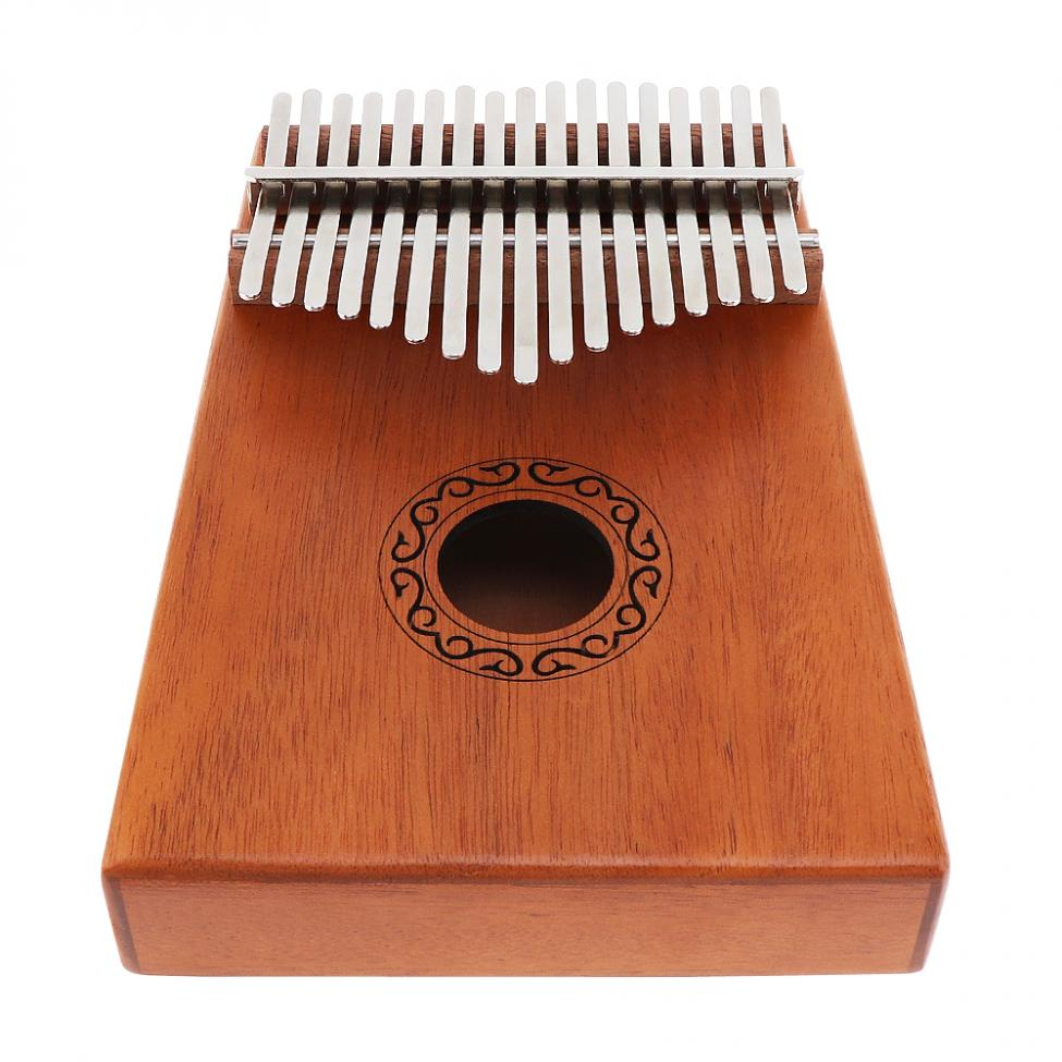 17 Keys Kalimba Single Board Mahogany Thumb Piano Mbira Keyboard Instrument Tool 3