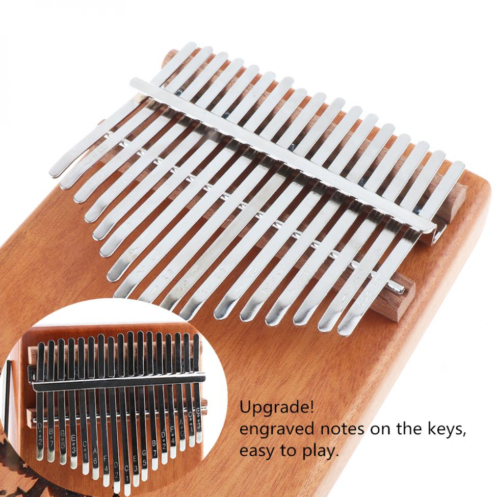 17 Keys Kalimba Single Board Mahogany Thumb Piano Mbira Keyboard Instrument Tool 5