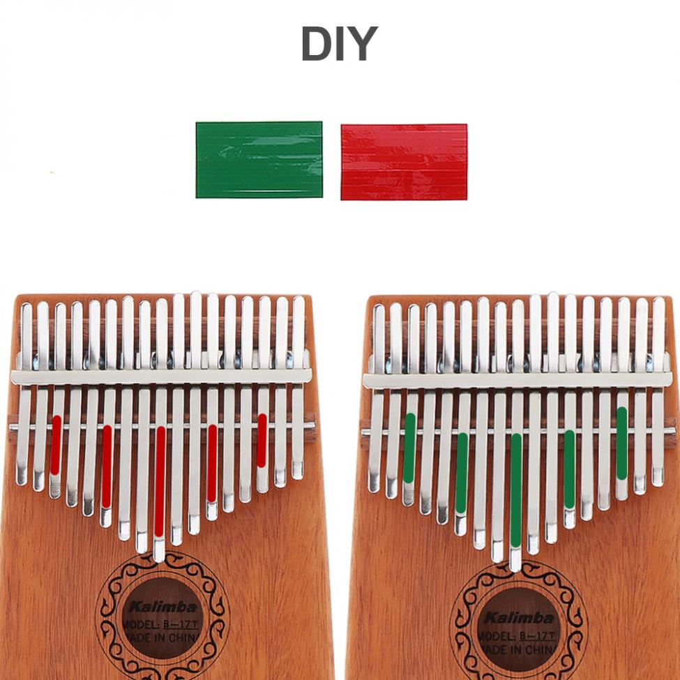 17 Keys Kalimba Single Board Mahogany Thumb Piano Mbira Keyboard Instrument Tool 8